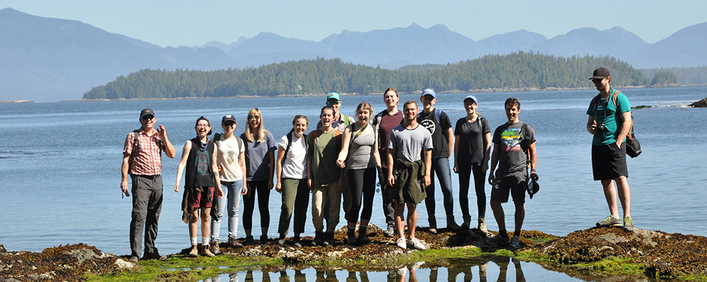 Environmental Humanities Students on a field trip in Bamfield BC