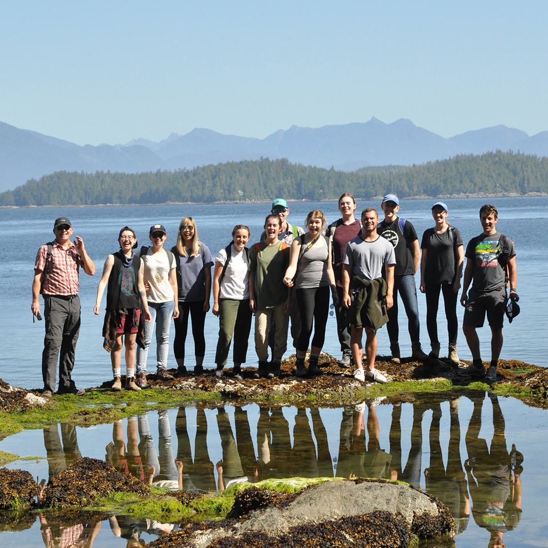 Students on a field trip in Bamfield, BC